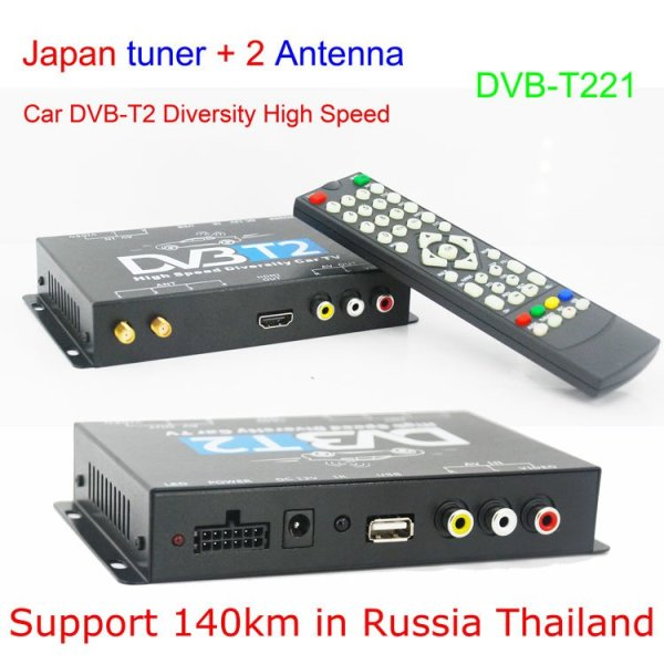 Mobil DVB-T2 Indonesia DVB-T High Speed Digital TV Receiver automobile DTV box DVB-T221 1 -