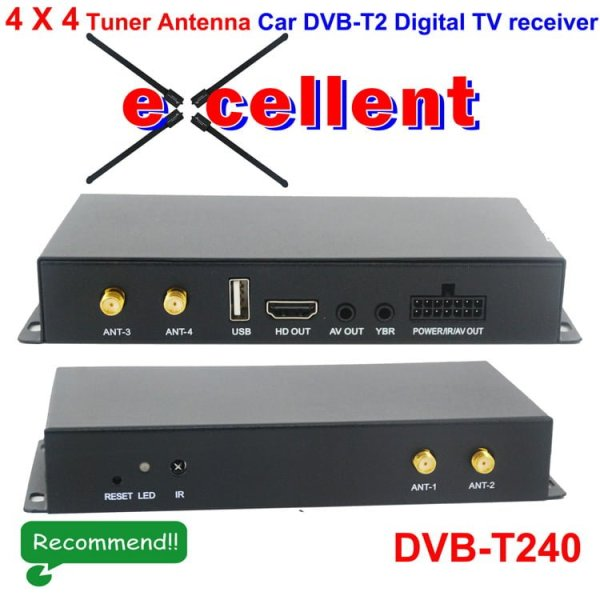 DVB-T240 4 x 4 Siano Tuner Diversity Antenna Car dvb-t2 digital receiver 1 -
