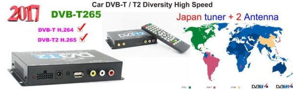 Germany DVB-T2 H265 HEVC 2017 New Model DVB-T265 automobile digital car dvb-t2 tv receiver 7 -