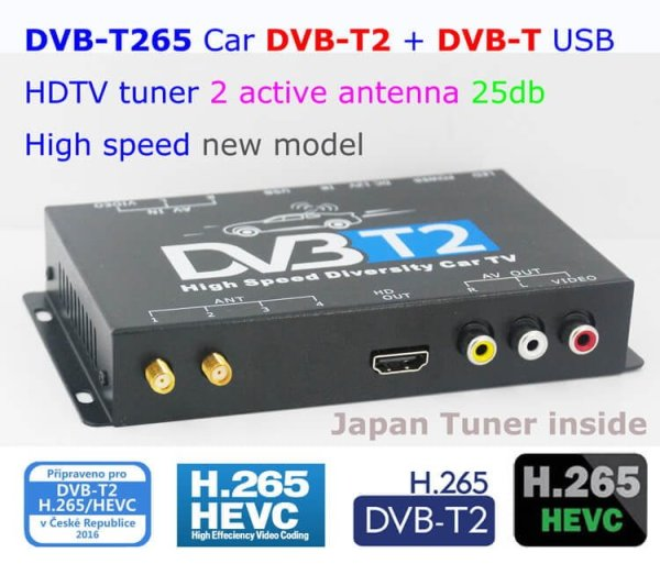 Germany DVB-T2 H265 HEVC 2017 New Model DVB-T265 automobile digital car dvb-t2 tv receiver 2 -