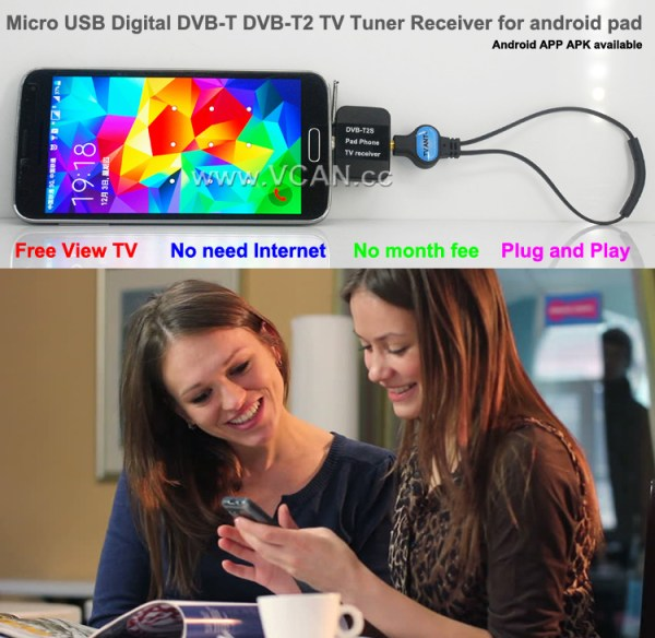Mobile Phone DVB-T2 TV stick Tuner Receiver Micro USB for android pad digital 5 -