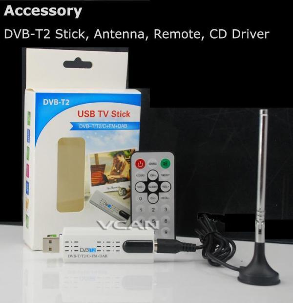 DVB-T2U USB DVB-T2 PC DTV receiver DVB-T2 DVB-T DVB-C SDR FMDAB TV stick 5 -