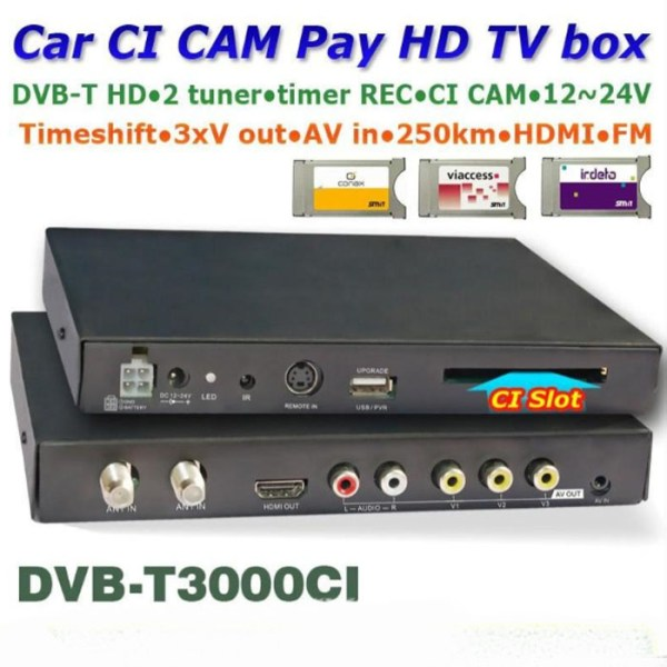 DVB-T3000CI HD DVB-T MPEG4 receiver with CI CAM card reader Slot DTV Europe TNT TDT CA 1 -