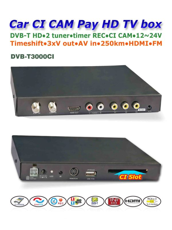 DVB-T3000CI HD DVB-T MPEG4 receiver with CI CAM card reader Slot DTV Europe TNT TDT CA 2 -