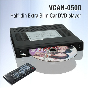 Half Din DVD player Extra Slim for Car use 0.5 Din 1/2 VCAN0500 1 -