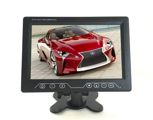 9inch Super Slim car tv monitor with USB,SD card ,FM,analog TV VCAN1324 1 -