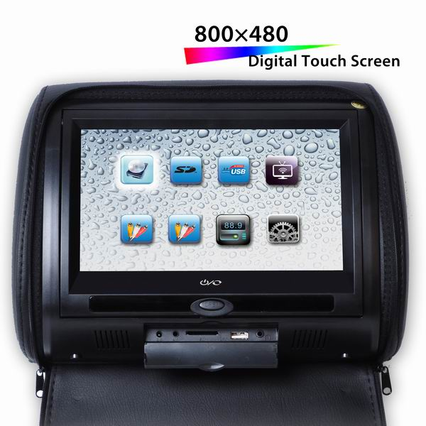 "9"" Digital Touch Screen Headrest DVD Player remote controller 32 bit games VCAN1360 1 -"