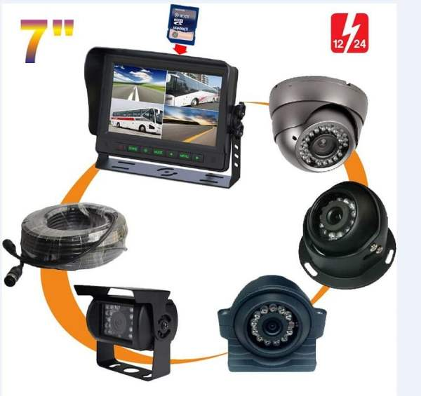 "7"" quad monitor Built-in DVR system VCAN1376 1 -"