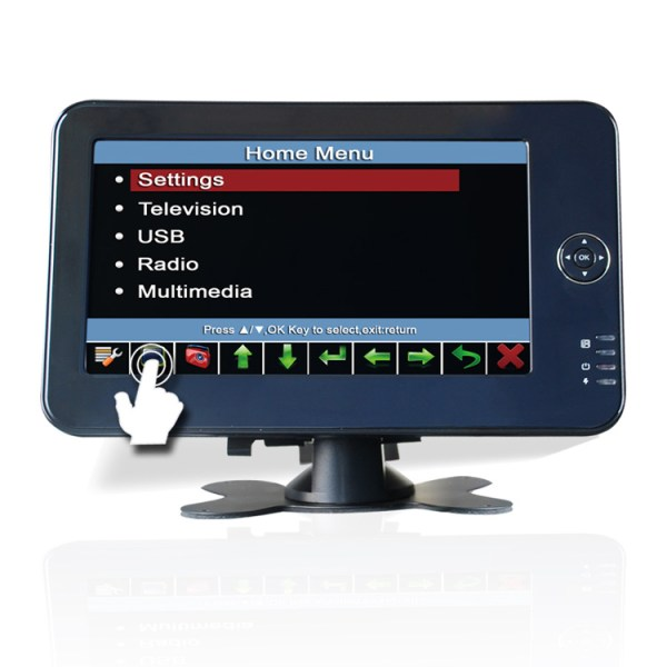 7 inch monitor DVB-T Portable handheld HD dvb-t TV receive box with PVR recorder/USB Media player DVB-T7012HD 1 -