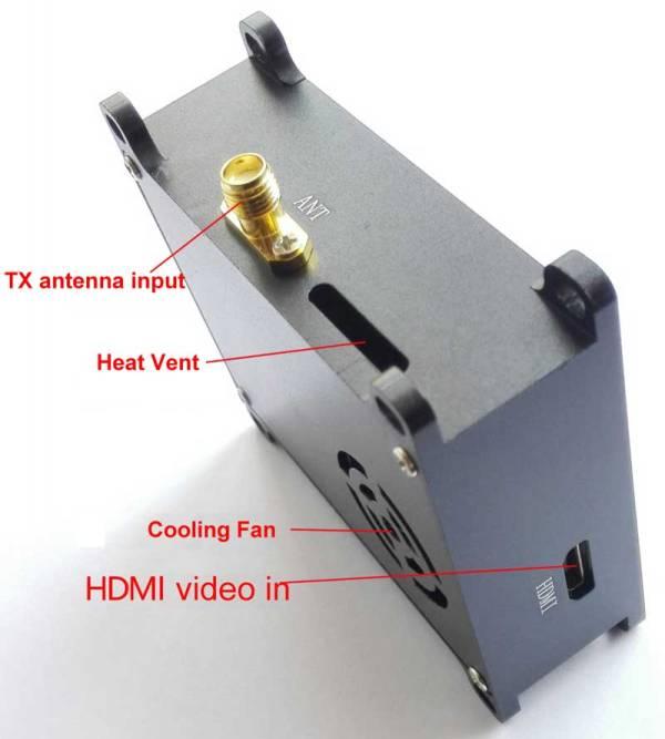 COFDM Wireless Video Transmitter HDMI cvbs input mini modulator module long distance fpv uav 905t 2 -