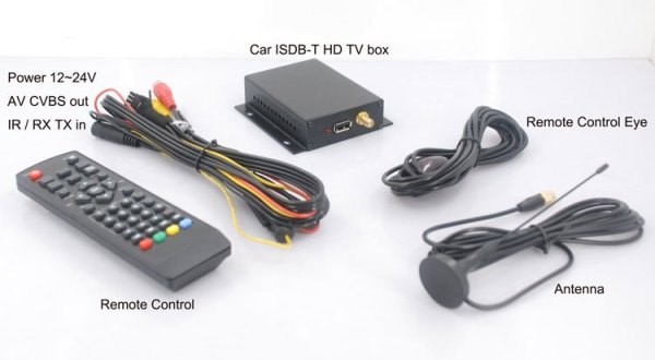Car ISDB-T High Speed Digital TV Full segment HD ISDBT Receiver for Brazil Peru Paraguay Philippines free Antenna ISDB-T63 2 -