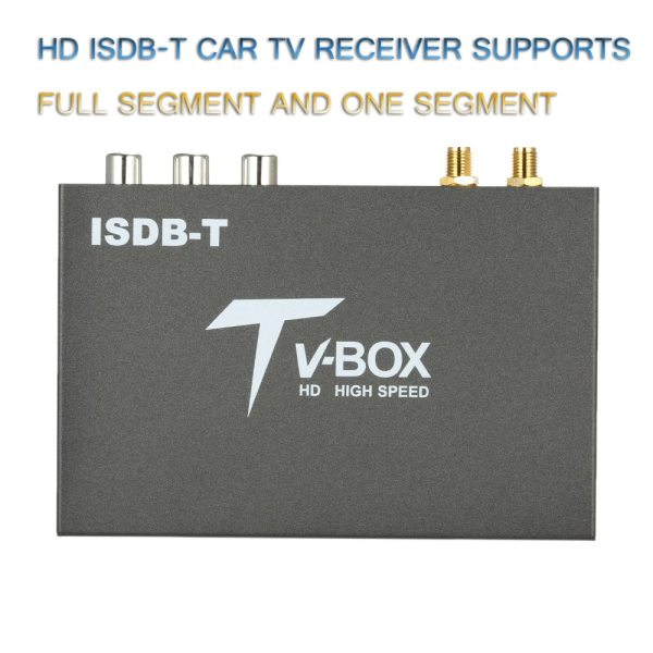 Car ISDB Digital TV 2 antenna ISDB-T Mobile Digital TV Decoder Receiver for Japan brazil chile Peru High-Speed Full Segment Dual Antenna