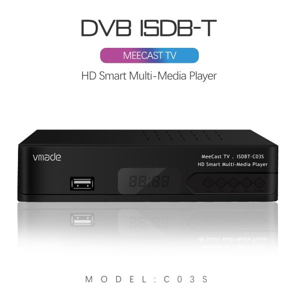 Digital Terrestrial ISDB-T TV Tuner Receiver Set-Top Box Fully HD 1080P H.264 USB Decoder for Brazil Chile Peru
