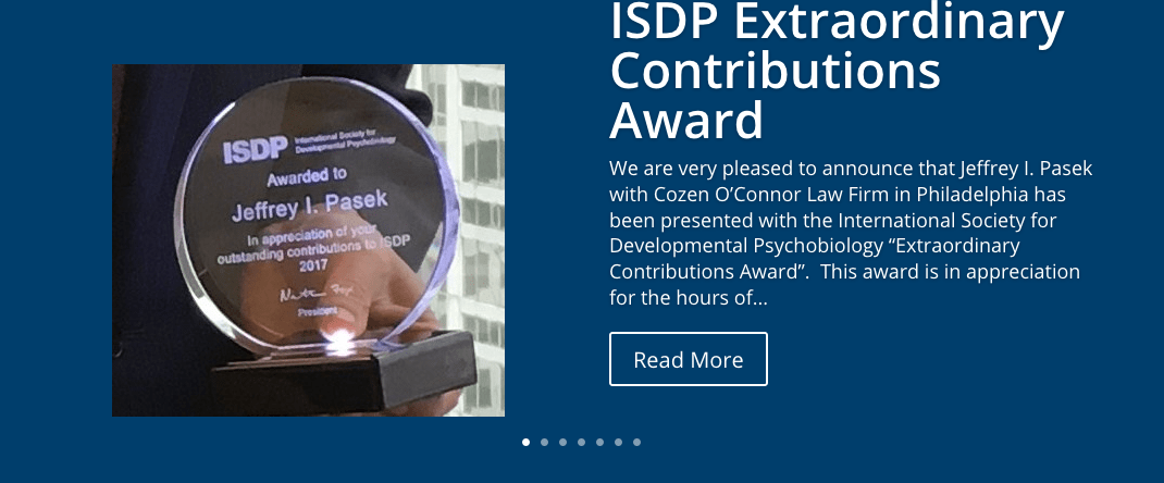 ISDP Extraordinary Contributions Award