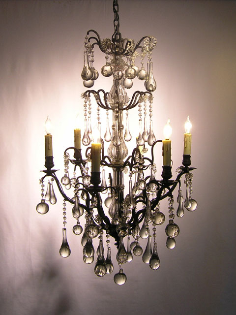 Antique French Teardrop Crystal Chandelier Fr122 Lighting Fixtures Chandeliers Home Decorating Resources