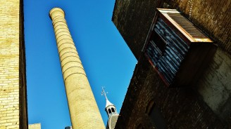 Minneapolis Brewing Company Grain Belt Brewery smokestack