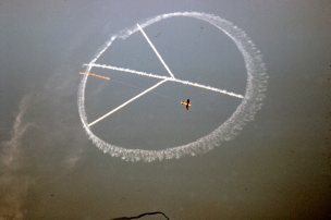 Peace Sign skywriting 1970