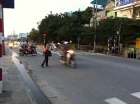 Crossing the street in Hanoi 1