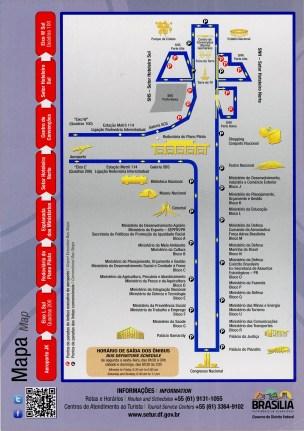 Brasilia bus map printable route
