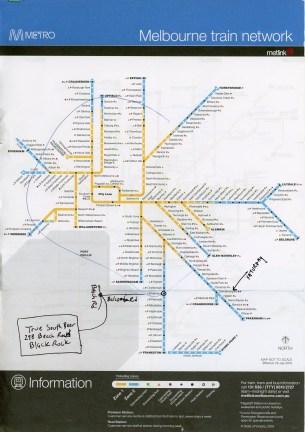 Melbourne Metro Train network