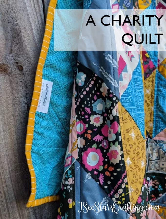 Quilting for the greater good. Beautiful Quilt Pattern www.iseestarsquilting.com