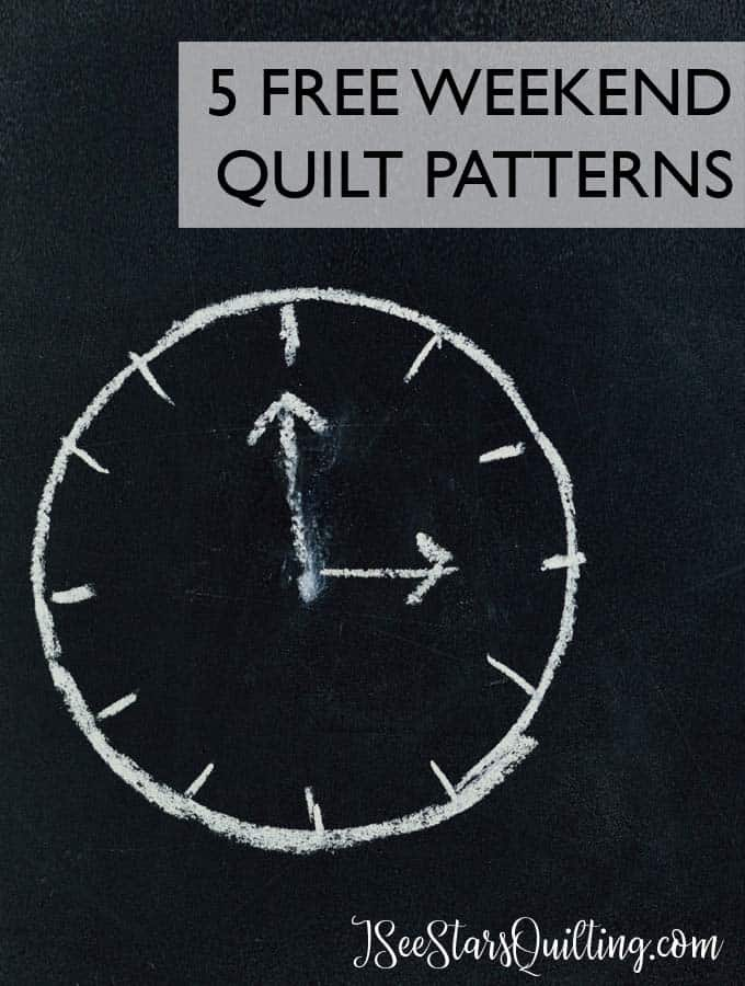 5 FREE weekend quilt patterns! for when you really just need to finish something or you are on a deadline for a gift! I LOVE #3!