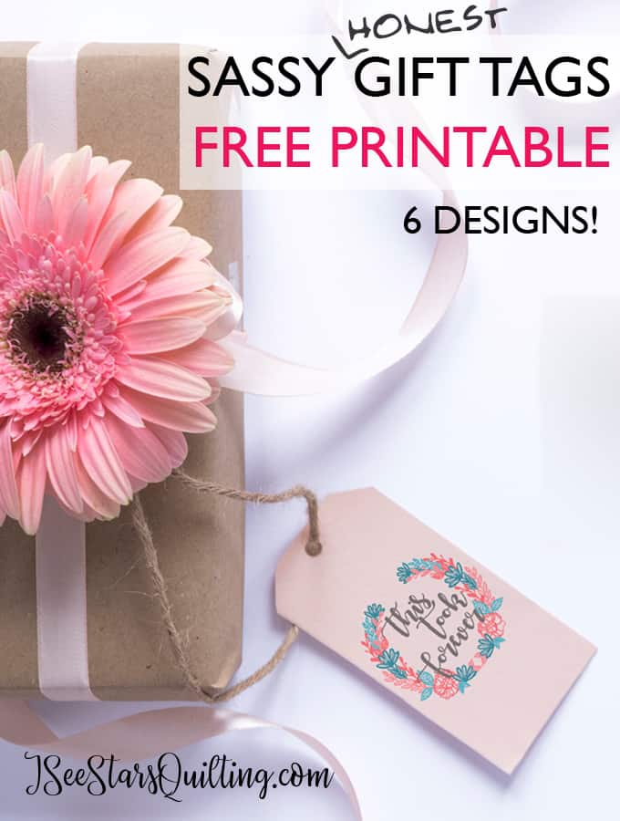 photo relating to Printable Quilt Labels named Free of charge (Certainly Trustworthy) Printable Reward Tags ⋆ I Watch Celebs Quilting
