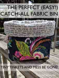 This cute fabric bin can be made in an hour and can be used all over the house! No extreme sewing skills required... its so easy!