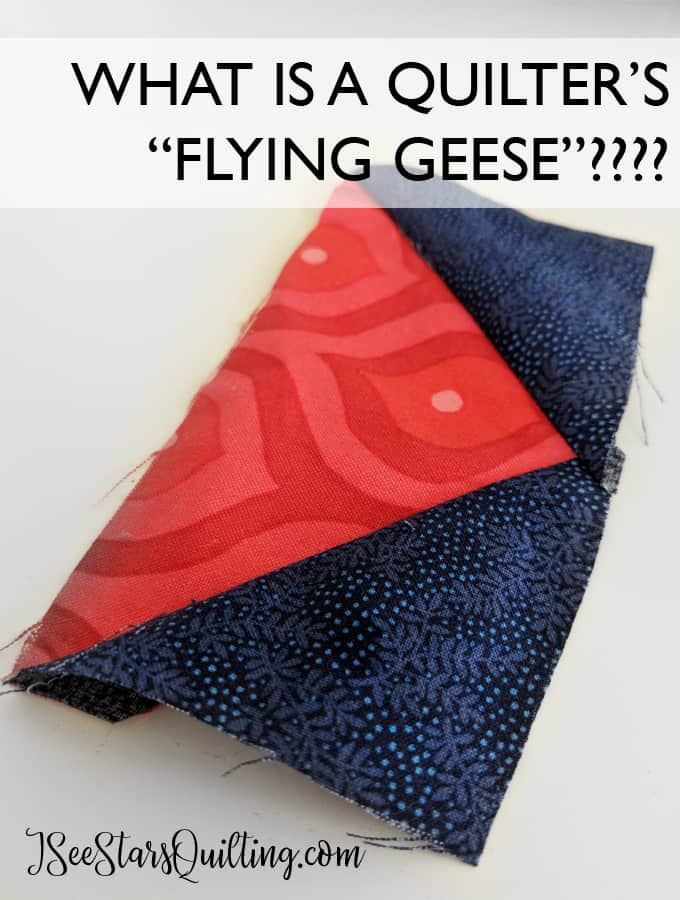 What is a Quilter's flying geese?