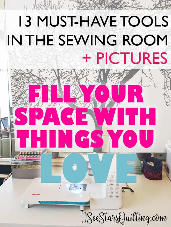 Overwhelmed with the sheer amount of accessories you can have in the sewing room? - Read this list for the top 13 Must-Haves in the sewing room!