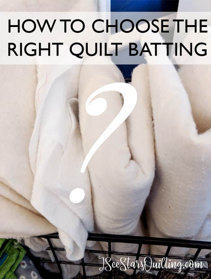 Quilt batting isn't a part of the quilt that you can see, but it is a very important decision determining the overall look, feel and drape of your quilt! Read more to choose the right quilt batting