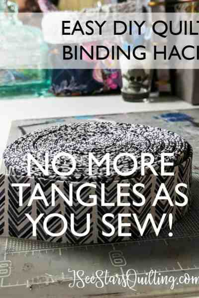 This super easy DIY has saved my binding tangles as I sew. It's such a simple thing to do. I can't believe I haven't thought to do it before!