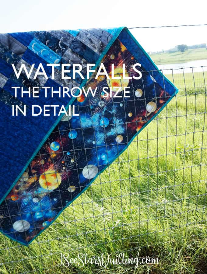 Looking for a fun quilt pattern that sews up in a day? Check out the Waterfalls Quilt Pattern! I have made this one several times and I love it every time!