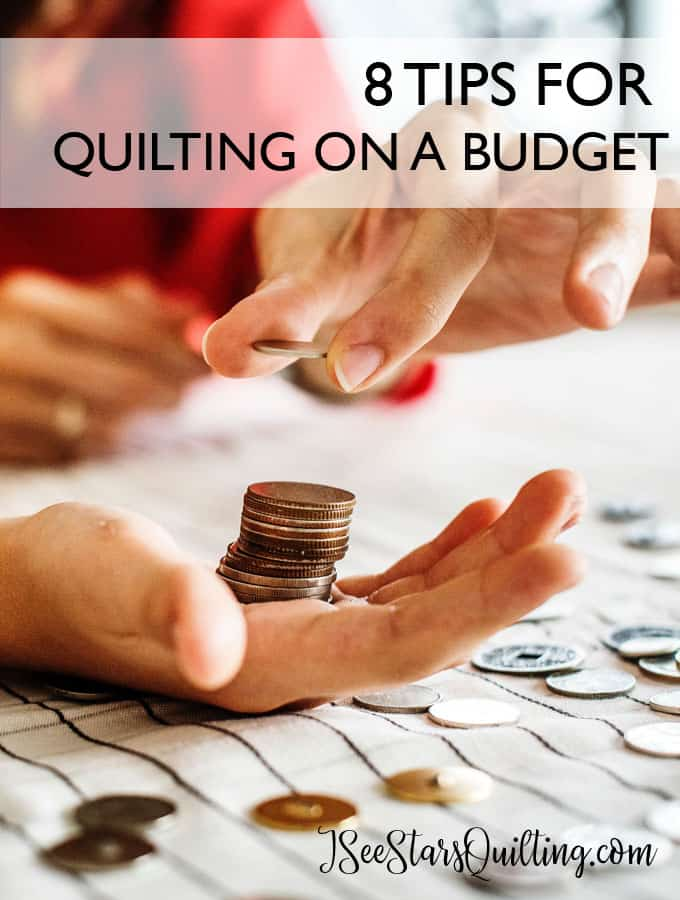 Figuring out that quilting is not a cheap hobby? Here are 8 PROVEN amazing ways to save a little money while continuing doing what you LOVE!
