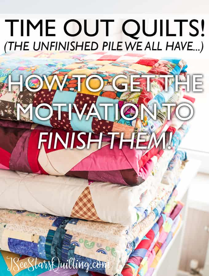 Are you overwhelmed with the pils of quilts that you have unfinished in your sewing room or closets? Can't seem to find the motivation to finish them? Read these tips on how to get your motivation back and clear that clutter!