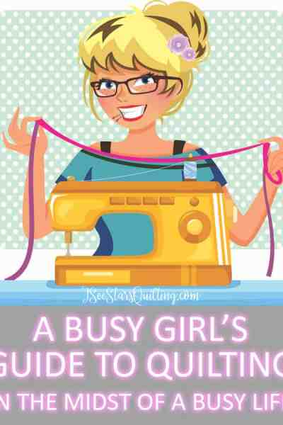 Think you're just TOO BUSY to quilt? Think there isn't any possible way you could have 10 minutes to yourself? -- Guess again. I'm sharing my tips and tricks and I am here to offer a helping hand because it is totally possible! Download a free ebook where I share my secrets.