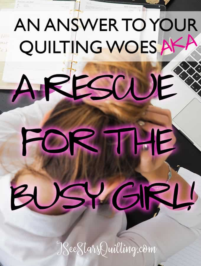 Think you're too busy to quilt? - I can show you how to make it work without giving up precious time with you family! FREE download with instant tips for success!