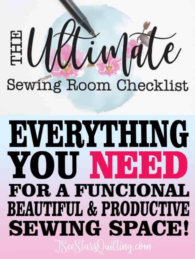 Here are tips to creating The Ultimate Sewing space (no matter what size!) PLUS a Free download checklist so you have everything you need!