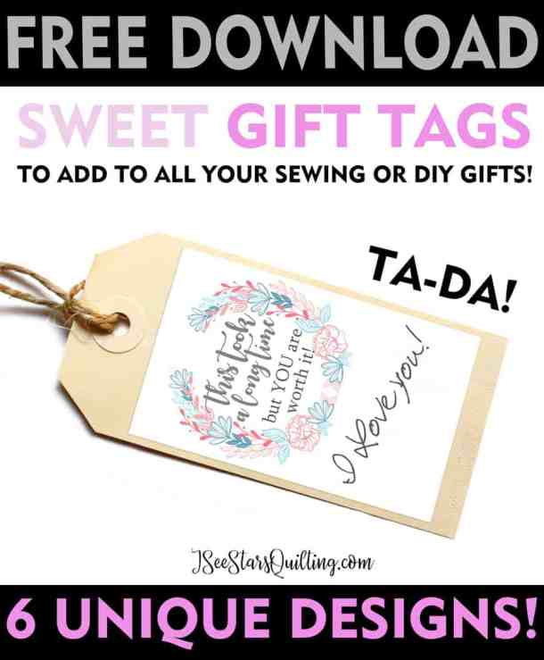 Looking for the perfect addition to your next DIY gift? These FREE Tags are exactly what you need! 6 Unique Designs - FREE download