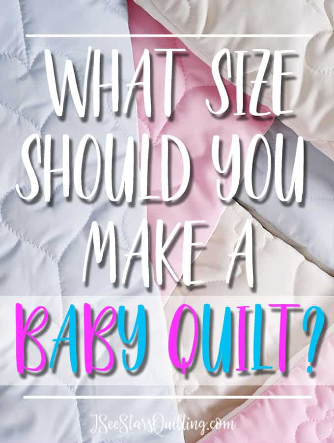 A chart with the most common baby quilt size. Plus, how to choose what size your quilt should be based on the use. Included are other common quilt sizes!