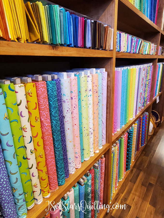 On a quick mini get-away, I made it a point to drop into some local quilt shops and do a little fabric shopping! I wanted to share some of my finds with you