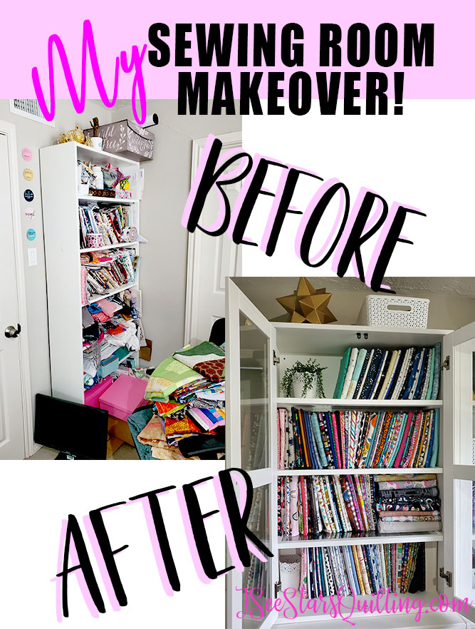 Before and After Pictures Sewing Room Renovation