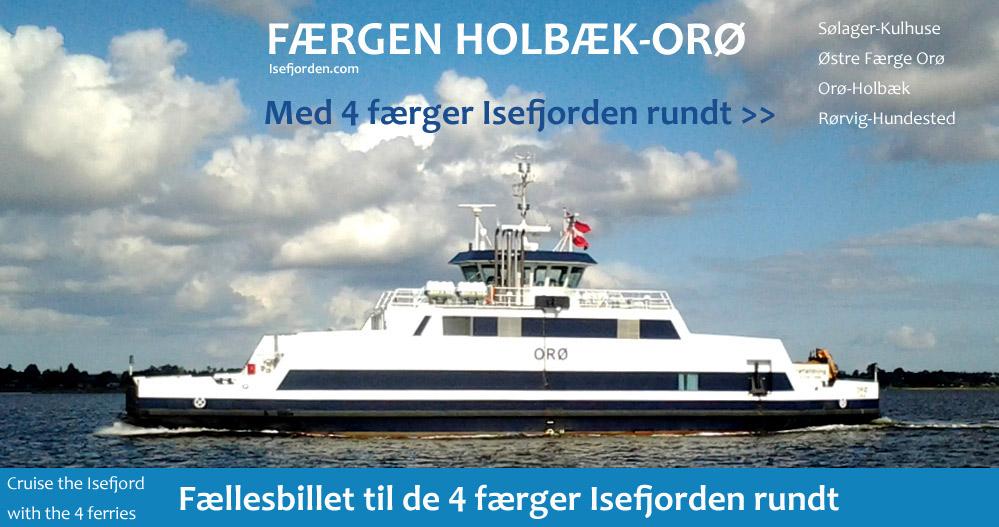 Cruise Isefjorden rundt med 4 færger