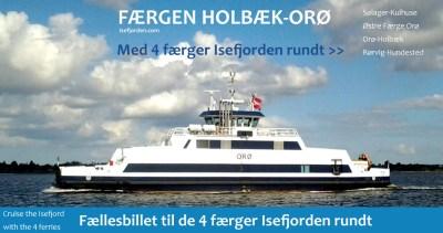 4 Færger i Isefjorden. Fællesbillet. Google-kort med færgerne - Isefjorden.com