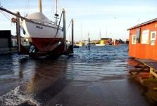 Stormen Urd 27/12 2016 Holbæk havn - beddingen Kl. 11:45