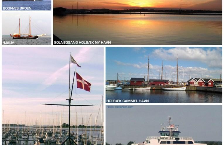 Collage med maritime fotos fra Holbæk Fjord