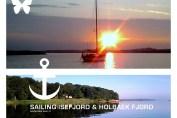 Collage med fotos fra Isefjorden. Fotos og collage Isefjorden.com