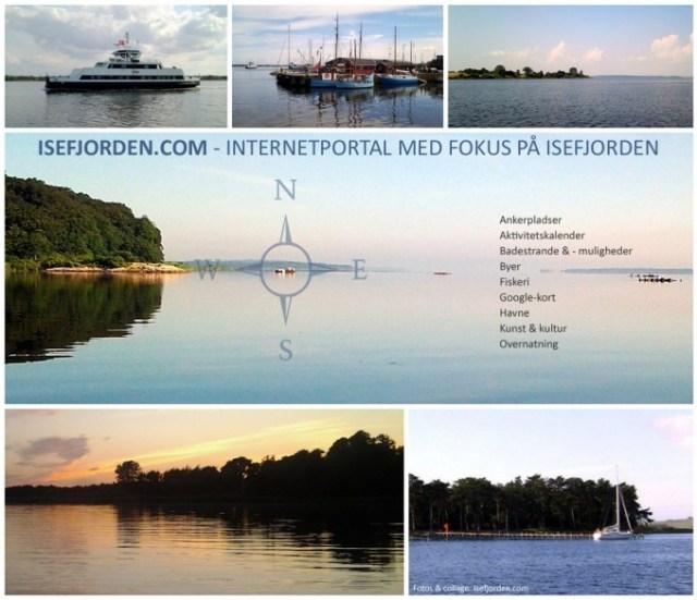 Collage med fotos fra Isefjorden - Isefjorden.com