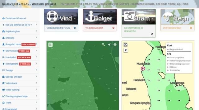 Kajakvejret.dk - God hjemmeside for kajakroere og sejlere