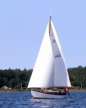 Klassisk sejlbåd i Holbæk Fjord